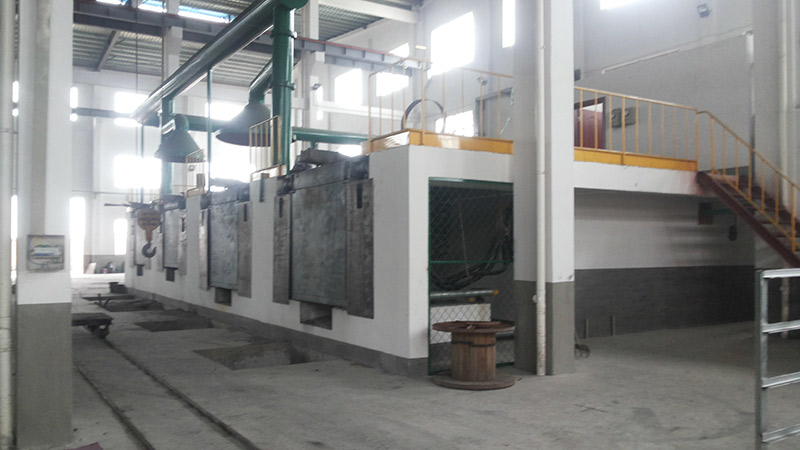 5000KG Steel Shell Medium Frequency Furnace
