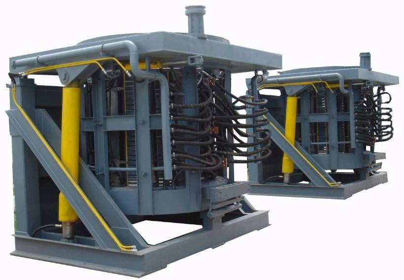 3000KG Steel Shell Medium Frequency Furnace