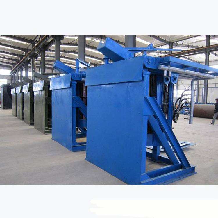 2000KG Steel Shell Medium Frequency Furnace